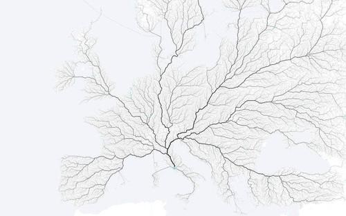 Todos os caminhos levam até Roma. -rede hidrográ