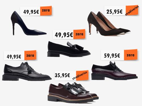 a1a5ce0c016 Entre os sapatos altos de bico fino - o bico fino está sempre na moda e fica  bem como tudo - e os bluchers. Agora não são os Oxfords