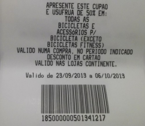25% em Bicicletas - Talão