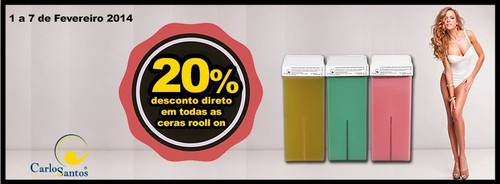 20% desconto directo | CARLOS SANTOS HS | de 1 a 7 fevereiro