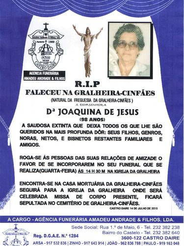 RIP- DE JOAQUINA DE JESUS -98 ANOS (GRALHEIRA) 001
