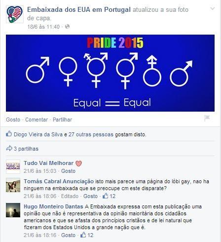 Mês Orgulho LGBT Embaixada dos EUA em Portugal.jp