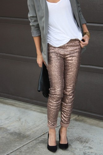 rose gold new years pants outfits for 2015 - casua