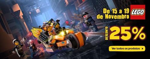 25% de desconto direto | TOYRUS | em Brinquedos Lego