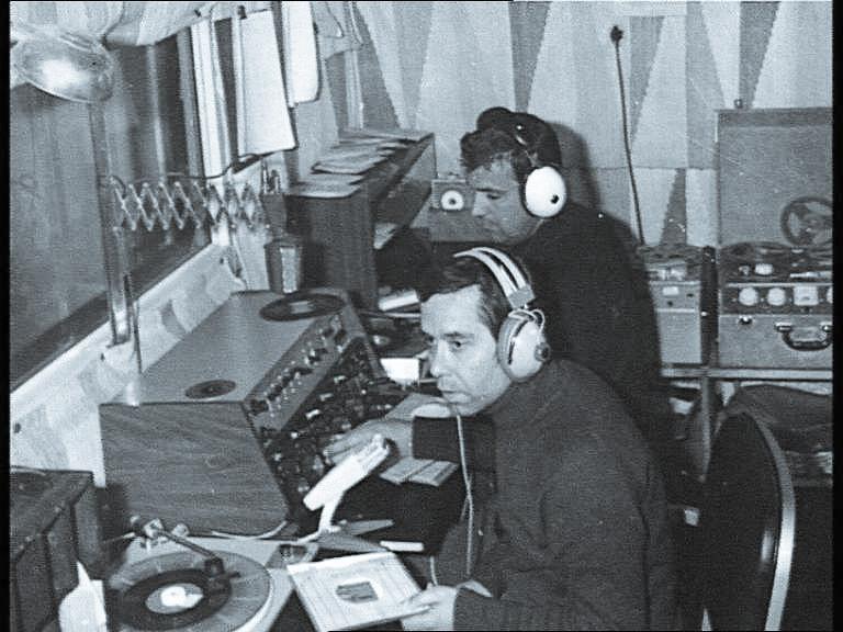 Emílio Aragonez no Estúdio da RA - decada de 70-