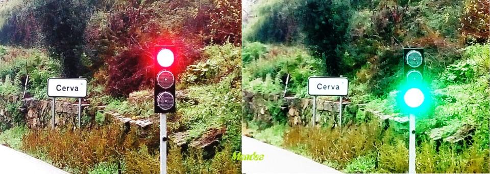 Vila de Cerva - Semáforo Regulsdor de Trânsito.