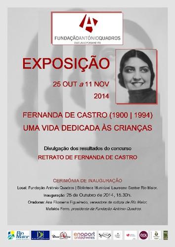 EXPOSIÇÃO FERNANDA DE CASTRO 25 10 a 11 11 2014.