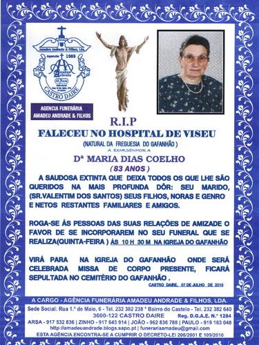 RIP- DE MARIA DIAS COELHO- 83 ANOS(GAFANHÃO) 001.