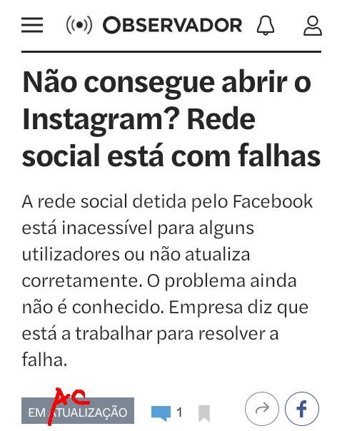 «Não consegue abrir o Instagram?…», in Observador, 2/IX/2021