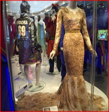 Vestido de Conchita Wurst, usado na noite em que venceu em 2014, e de Verka Seduchka