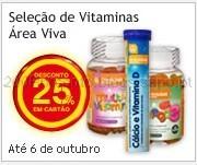 25% em Vitaminas Área Viva