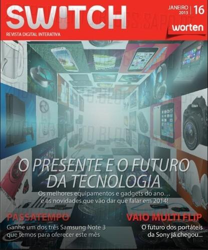 Nova revista   SWITCH   da worten - Janeiro 2014