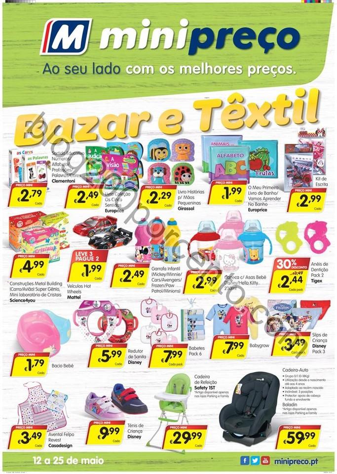 Novo Folheto MINIPREÇO Bazar promoções de 12 a