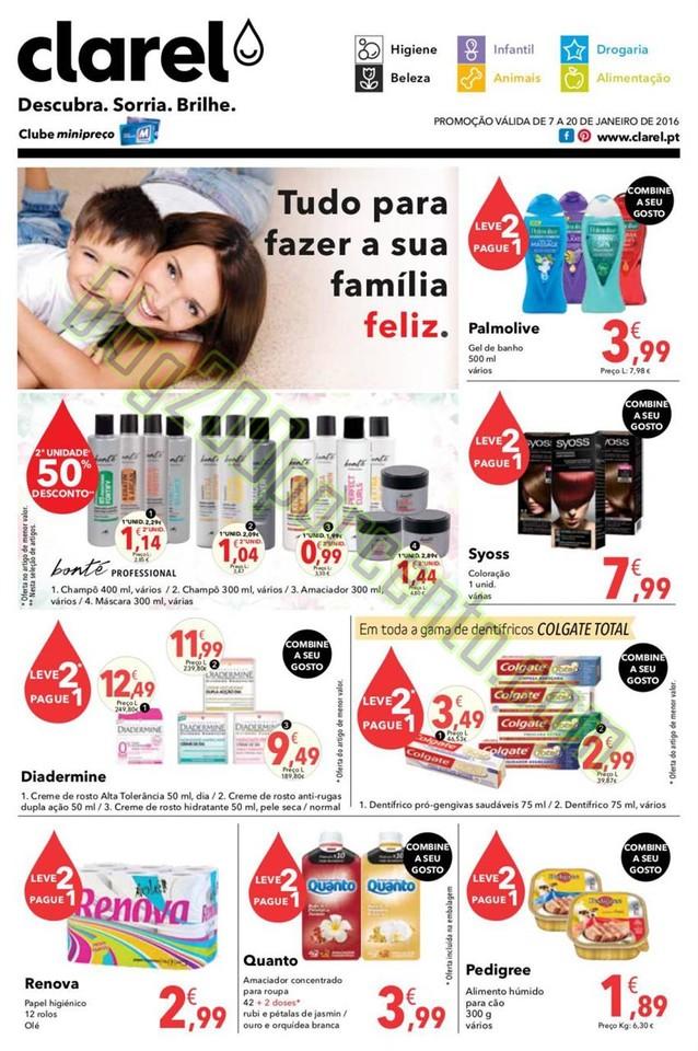 Antevisão Folheto CLAREL Promoções de 7 a 20 ja