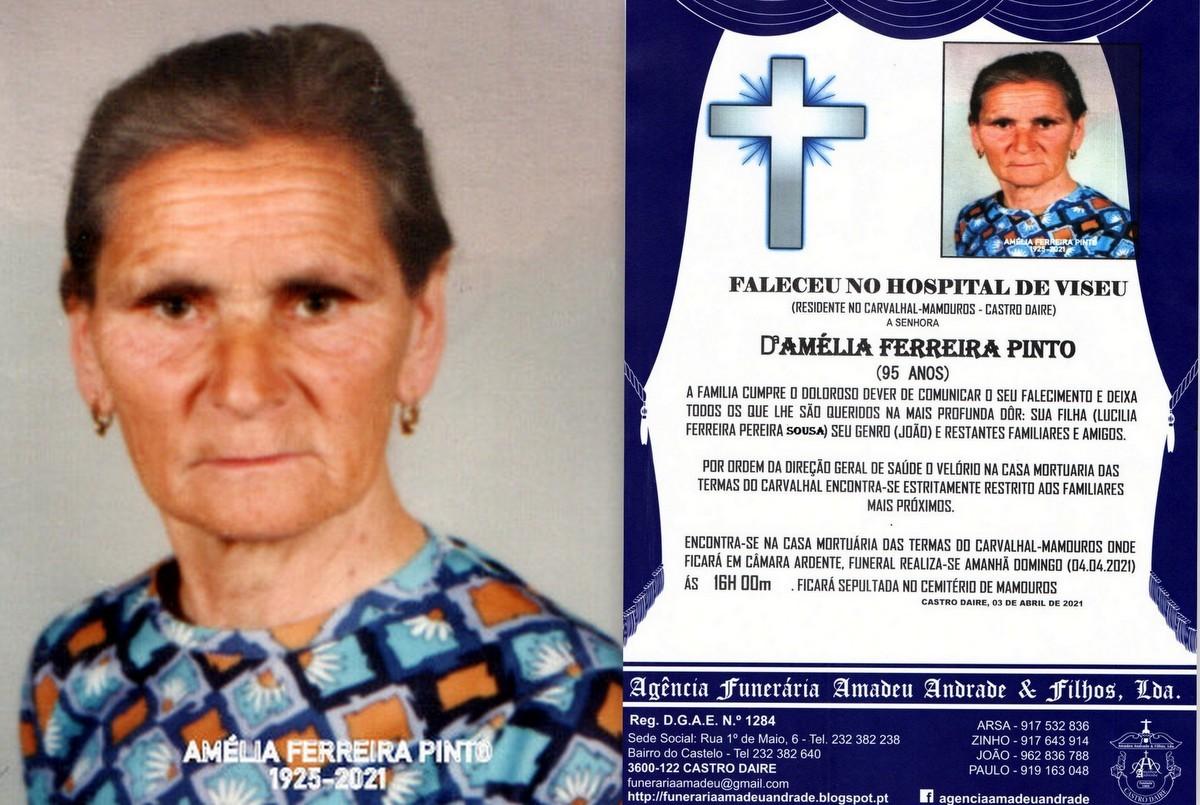 FOTO RIP DE AMÉLIA FERREIRA PINTO-95 ANOS (CARVAL