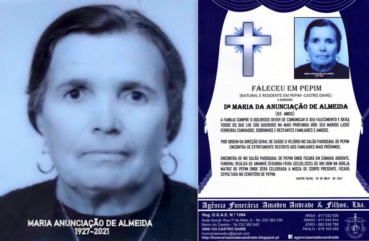 FOTO RIP DE MARIA ANUNCIAÇÃO DE ALMEIDA-93 ANOS