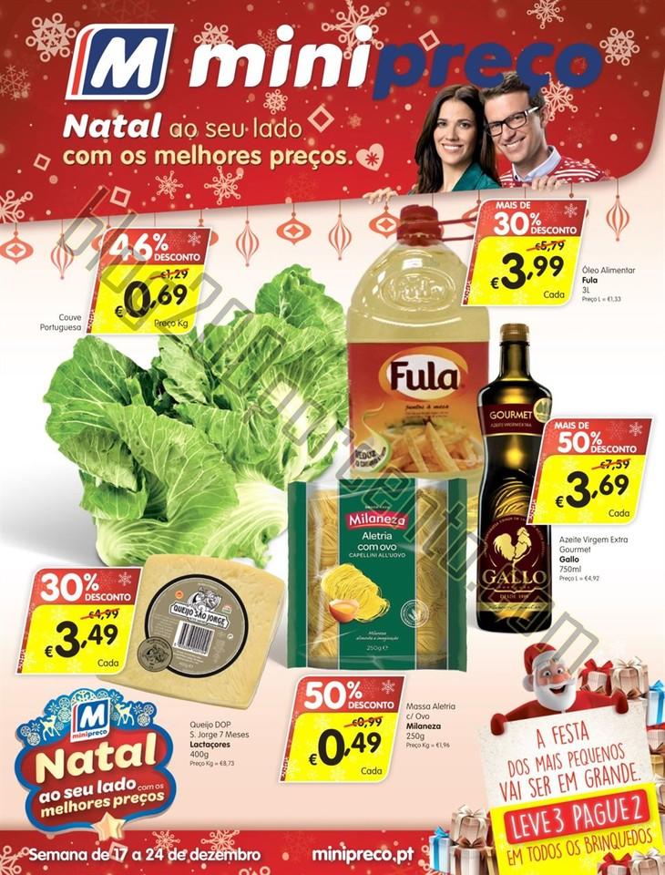 Antevisão Folheto MINIPREÇO Semana Natal Promoç