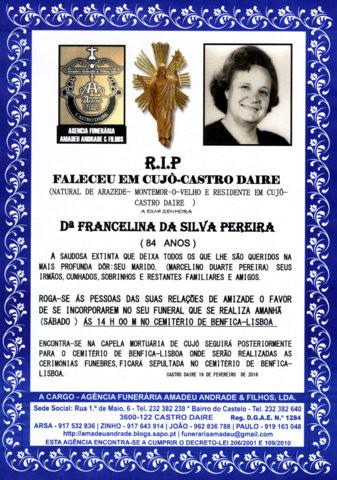 RIP- FRANCELINA DA SILVA PEREIRA -83 ANOS.jpg