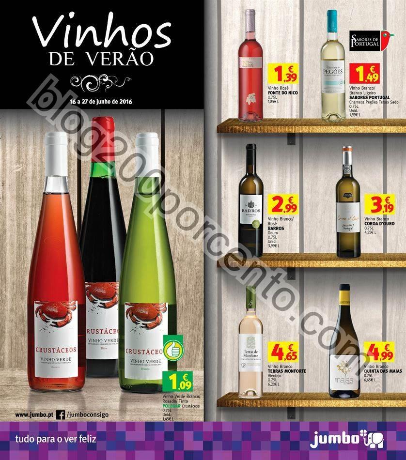 Antevisão Folheto JUMBO Vinhos promoções de 16
