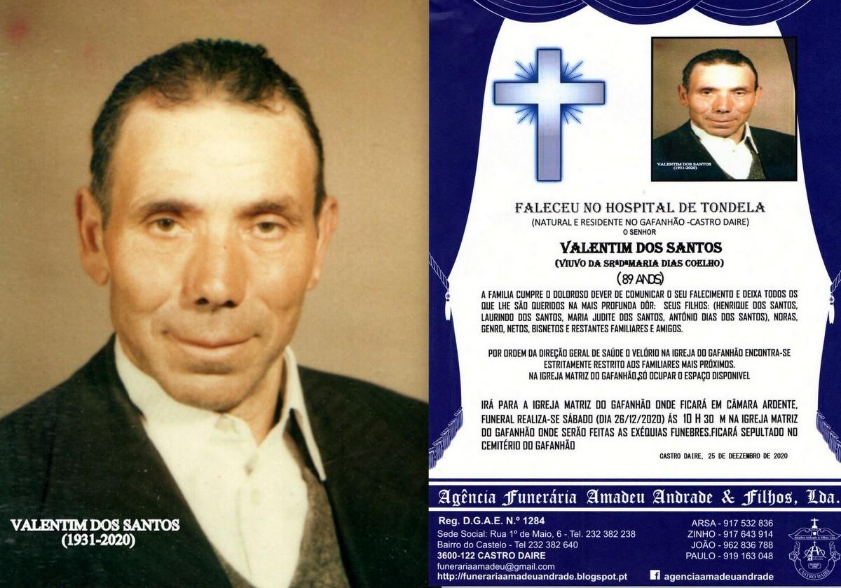 FOTO RIP DE VALENTIM DOS SANTOS-89 ANOS (GAFANHÃO
