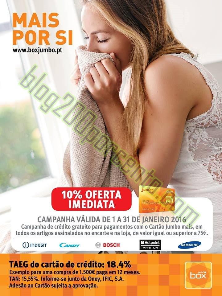 Novo Folheto JUMBO - BOX promoções de 1 a 31 jan