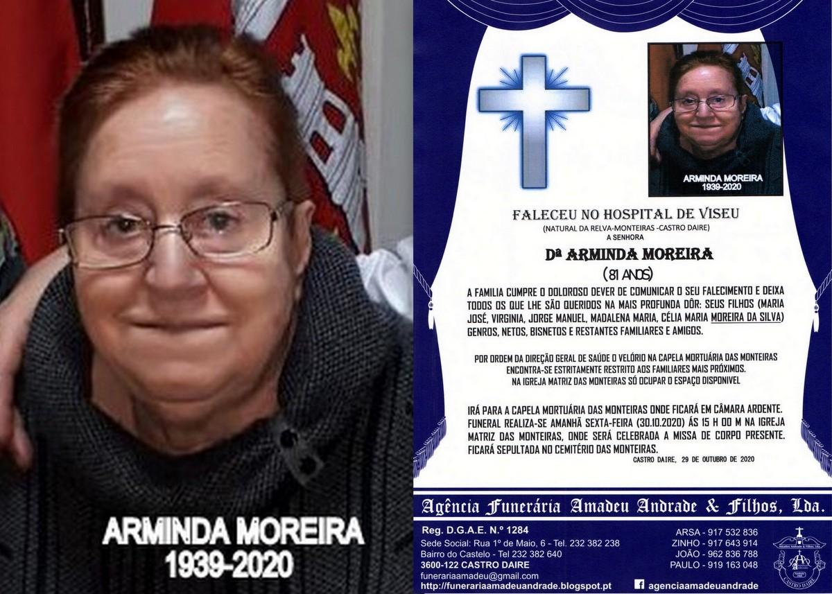 FOTO RIP  DE ARMINDA MOREIRA-81 ANOS (RELVA-MONTEI