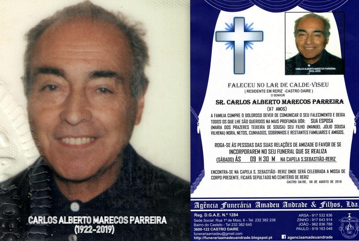 FOTO RIP DE CARLOS ALBERTO MARECOS PARREIRA-97 ANO