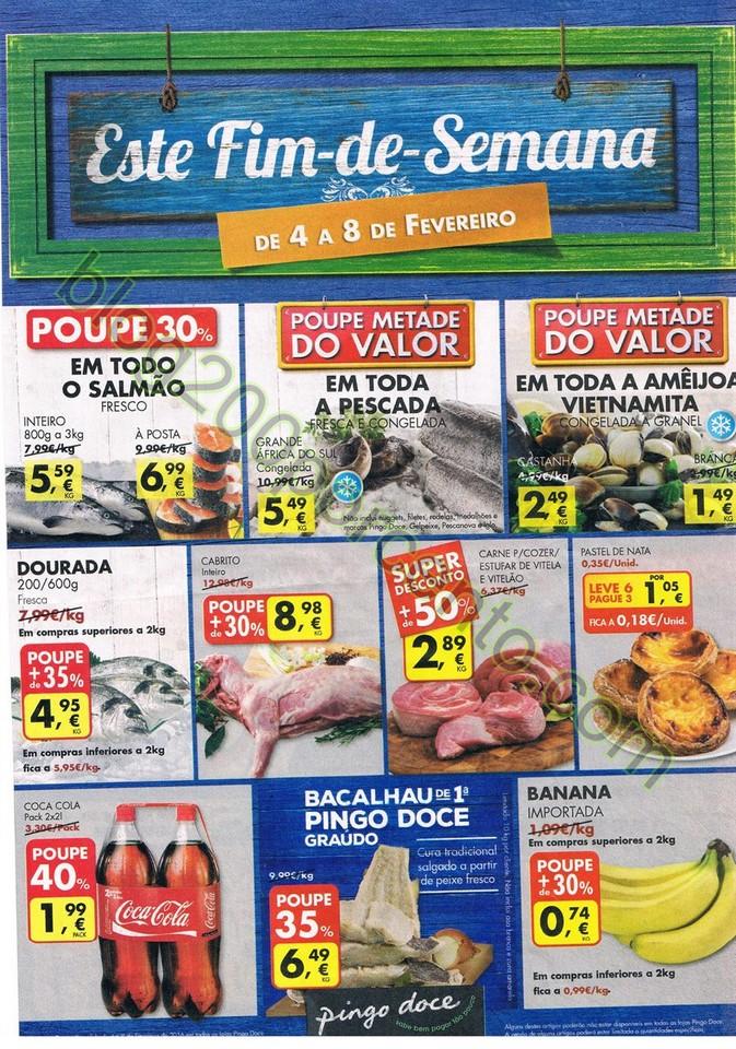 Antevisão Folheto PINGO DOCE Fim de semana de 4 a