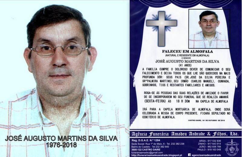 FOTO RIP  DE JOSÉ AUGUSTO MARTINS DA SILVA- 41 AN