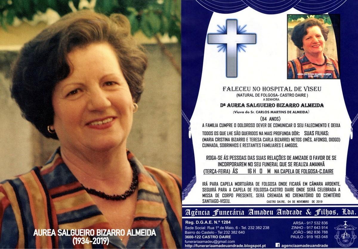 FOTO RIP DE AUREA SALGUEIRO BIZARRO ALMEIDA-84 ANO