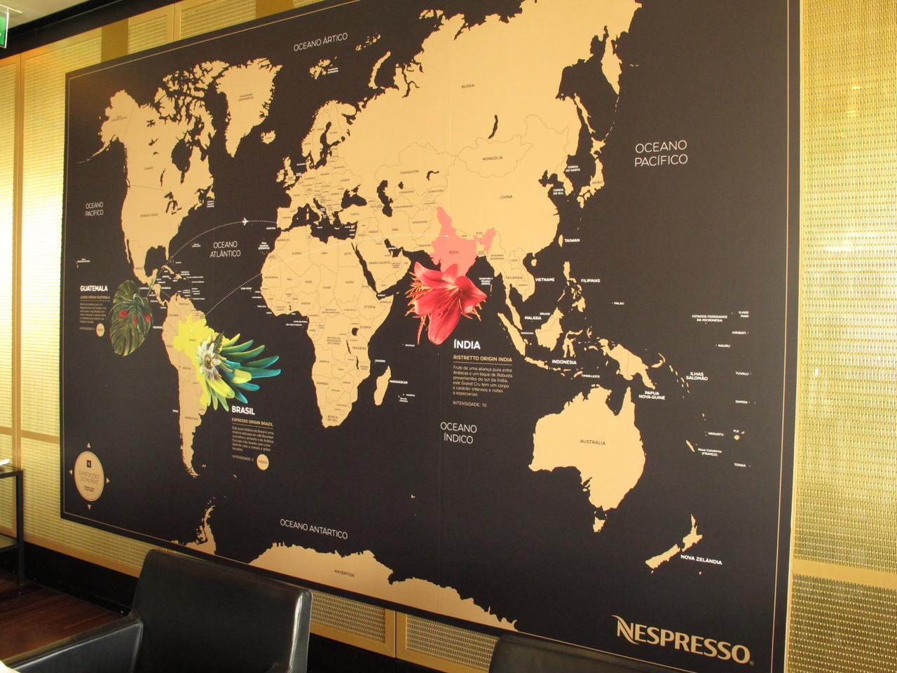 Mapa Nespresso