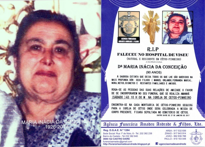FOTO-RIP- DE MARIA INÁCIA DA CONCEIÇÃO-90 ANOS