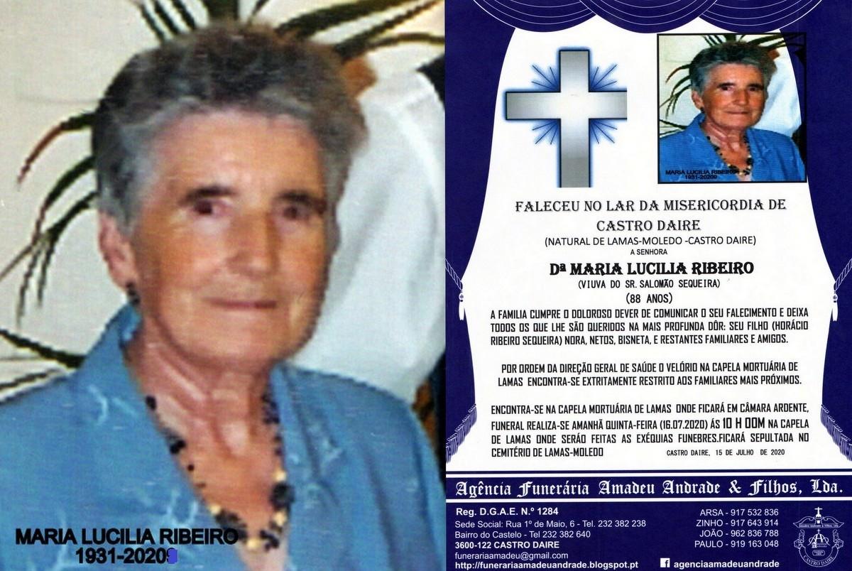 FOTO RIP DE MARIA LUCILIA RIBEIRO-88 ANOS (LAMAS-M