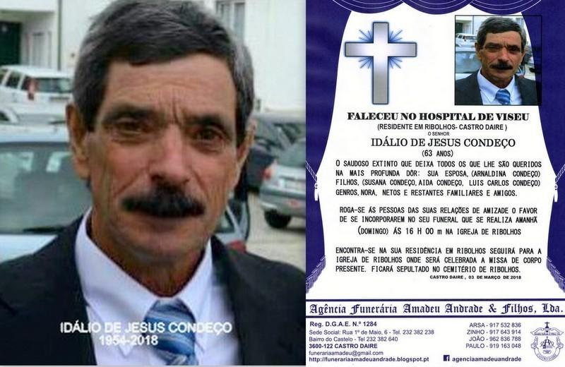 RIP-FOTO  DE IDÁLIO DE JESUS CONDEÇO-63 ANOS (RI