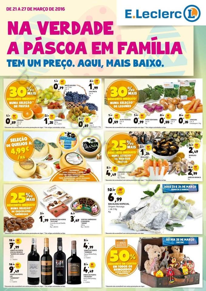 Antevisão Folheto Extra E-LECLERC Páscoa de 21 a