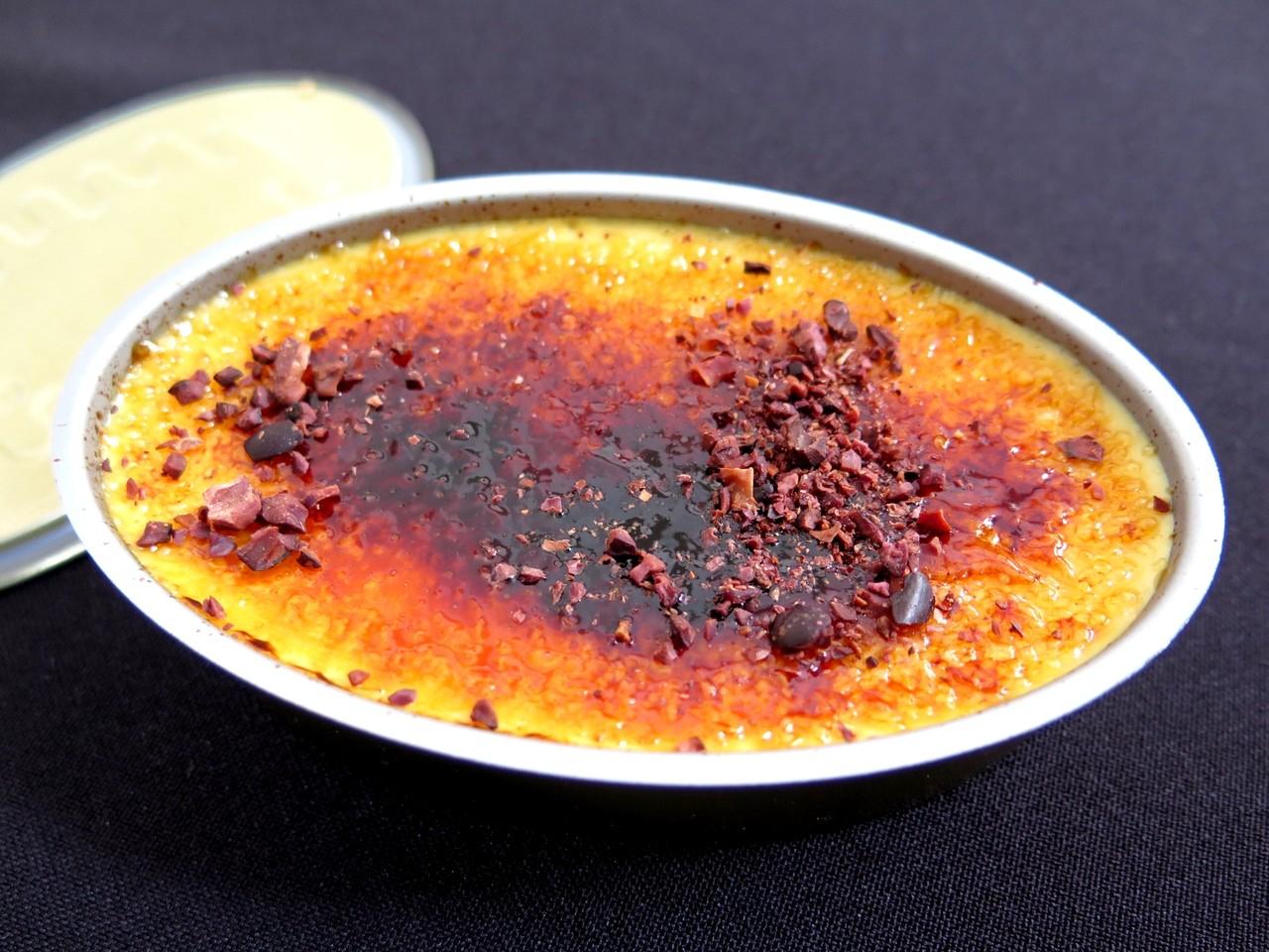 Creme Queimado de Bolota, Cacau e Lúcia-Lima