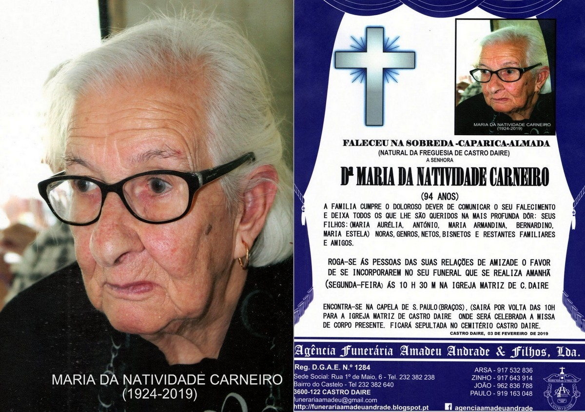 FOTO RIP DE MARIA DA NATIVIDADE CARNEIRO-94 ANOS (