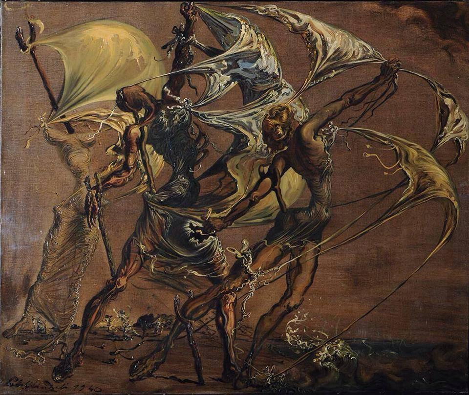 Dalí - mulheres imitando uma escuna, 1940