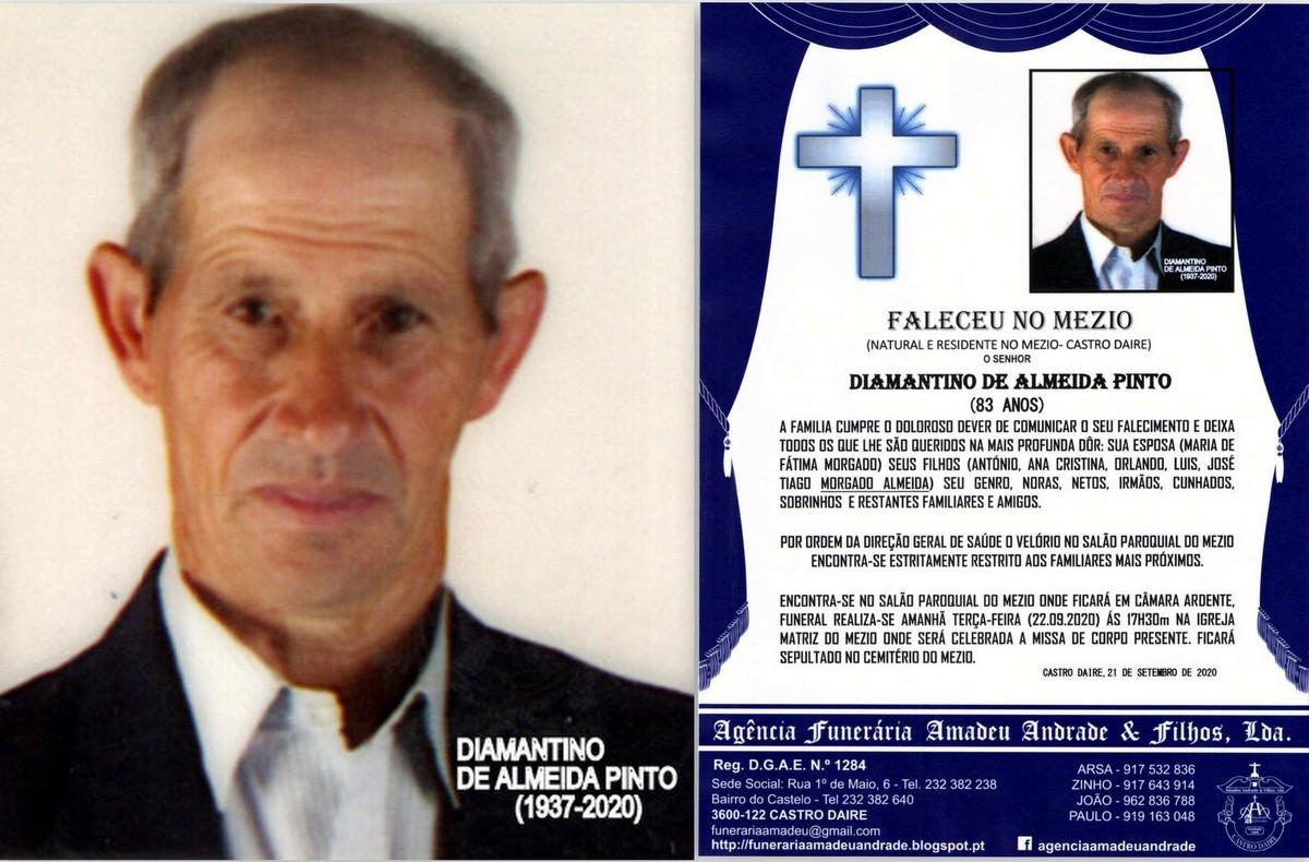 FOTO RIP DE DIAMANTINO DE ALMEIDA PINTO-83 ANOS (M