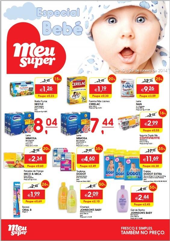Folheto | MEU SUPER | Especial Bebé, de 10 a 23 janeiro