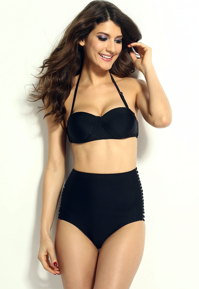 Black-Summer-High-waisted-Slits-Bikini-LC40659-2-1