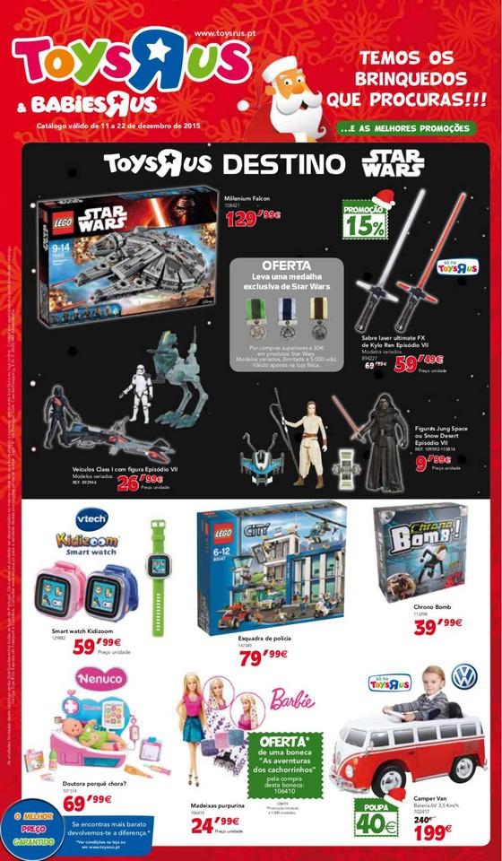 Novo Folheto TOYSRUS Brinquedos Natal de 11 a 22 d