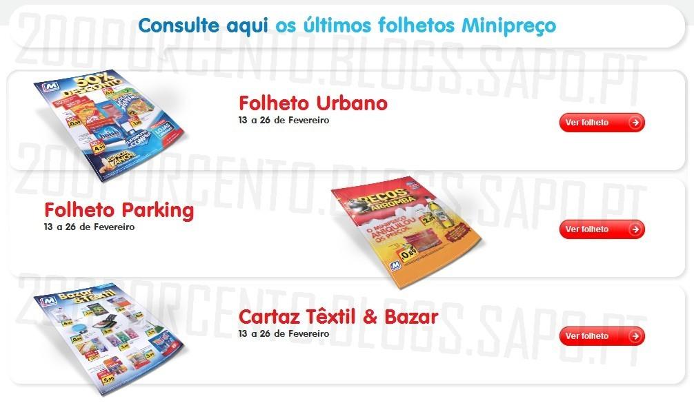 Novos Folhetos   MINIPREÇO   Online, de 13 a 26 fevereiro
