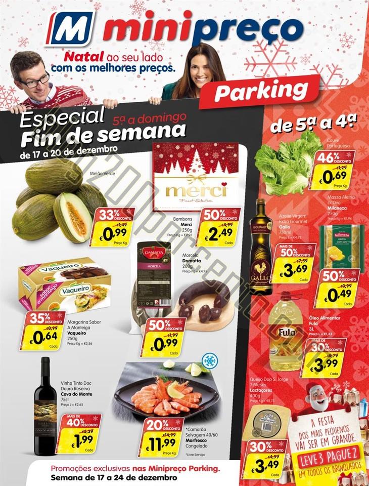 Antevisão Folheto MINIPREÇO Parking Semana Natal