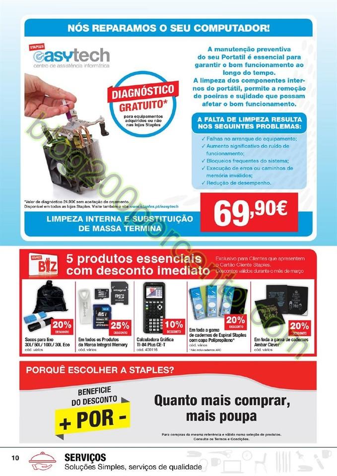 Antevisão Folheto STAPLES promoções de 3 a 15 m