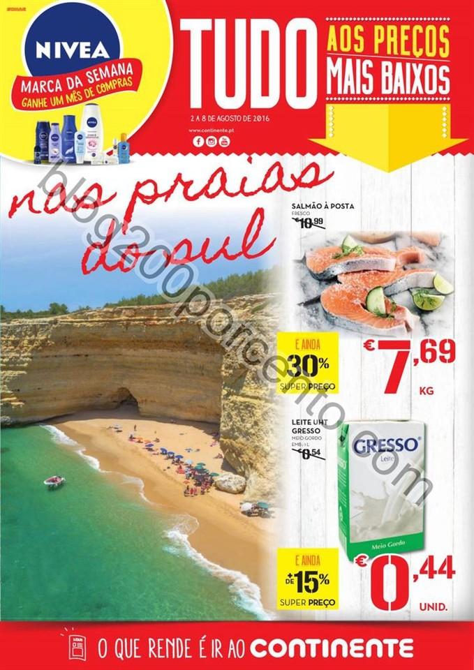 Antevisão Folheto CONTINENTE Praias promoções d