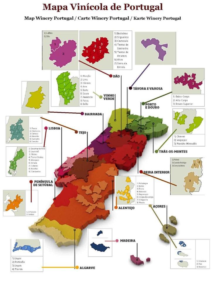 Mapa Vinicola De Portugal Turiventos Turismo E Eventos