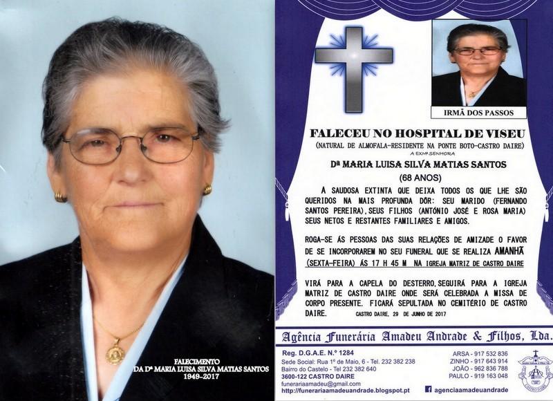 FOTO E RIP  DE MARIA LUISA SILVA MATIAS SANTOS-68