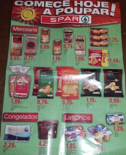 Novo folheto   SPAR   até 16 março