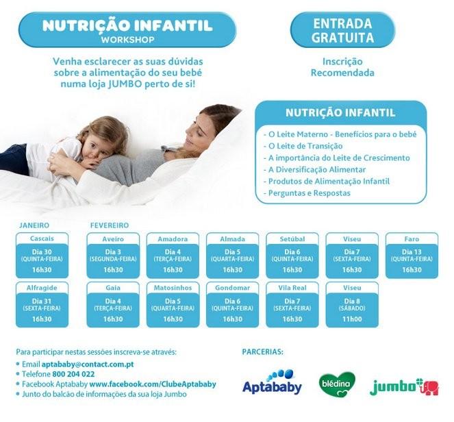 Workshop Nutrição Infantil | JUMBO | de 30 janeiro a 8 fevereiro